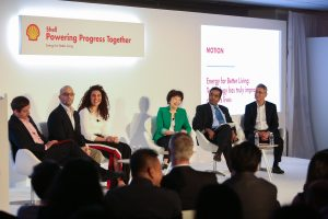 Panel discussion during day one of Shell Make The Future Singapore at the Changi Exhibition Centre, Thursday, March 8, 2018 in Singapore. (Norman Ng/AP Images for Shell)